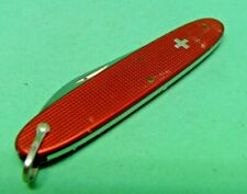 Victorinox / Elinox 84mm Popular Swiss Army Knife in Red Alox with bail