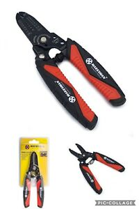 New Marksman's Wire/cable Cutter & Stripper With Soft Cushion Grip,spring Loaded