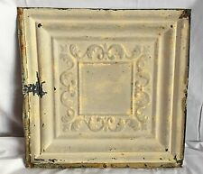 1890's 12 x 12 Antique Tin Ceiling Tile Taupe Metal Reclaimed Anniversary 144-17