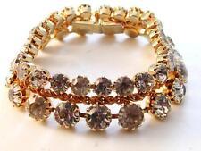 Vintage 1950S Vogue Jlry Goldtone Rhinestone Bracelet