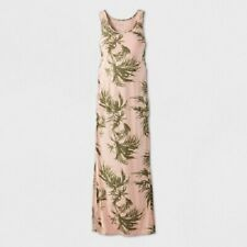 Ingrid & Isabel Maternity Printed Sleeveless Essential Knit Dress Pink Small NWT