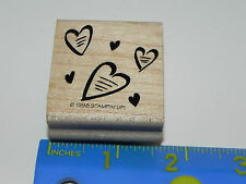 Stampin Up Single Stamp - Bunch / Group of Hearts (Great for Valentine's Day)