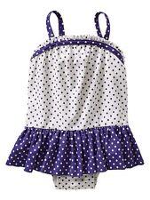 GAP Baby / Toddler Girl 18-24 Months Blue White One-Piece Polka Dot Bathing Suit