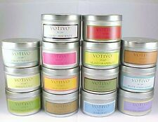 "2 VOTIVO AROMATIC TRAVEL TIN CANDLES ""YOUR CHOICE""  PLUS FREE SHIPPING"