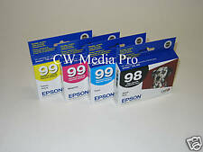 4 Genuine Epson T098 T099 ink 98 99 Artisan 700 710 725 730 800 810 835 837 new