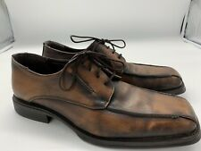 Franco Fortini Men's Shoes Laced up Bicycle Toes Size 12 All leather.