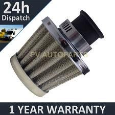 9mm Aire Aceite Manivela Funda Respirador de filtro se ajusta más vehículos Plata cono