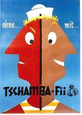 Original vintage poster TSCHAMBA-FII SUN TAN SAILOR 1954