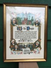 "Brown & Bigelow ""WE THE PEOPLE"" Wood Framed Print W/Dust Jacket -"