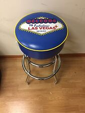 Welcome To Las Vegas Neon Sign Blue Royal Blue/Yellow Bar Stool Stools - NEW