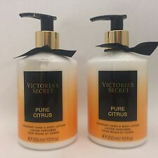 2 Victoria's Secret Pure Citrus Fragrant Hand & Body Lotion 10 fl.oz