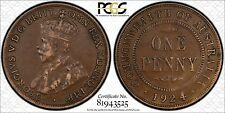 AUSTRALIA SCARCE 1924 INDIAN OBVERSE PENNY - PCGS GRADED VF30