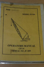 Kobelco Operators Manual CR16 Model:5170A