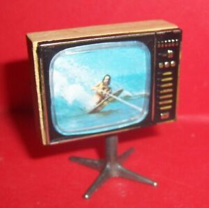 VINTAGE 1970's LUNDBY BARTON DOLLS HOUSE RETRO TV