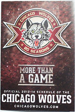 NEW 2013-2014 CHICAGO WOLVES (AHL) AMERICAN ICE HOCKEY LEAGUE POCKET SCHEDULE