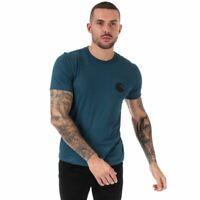 Men's C.P. Company Printed Goggle Crew Neck Cotton T-Shirt in Blue