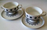 Rosenthal Ice Blossom Footed Cream Soup Bowl & Saucer Set & A Footed Cup & Sauce