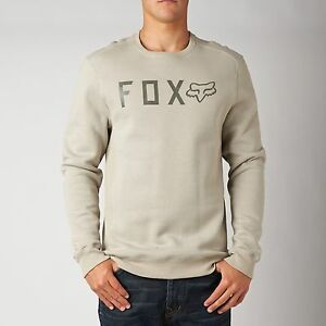 Fox Racing Disjoint Pullover Sweatshirt Stone, Size: Large
