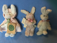 Lot of 3 Boyds Bears Hares or Rabbits: Hanging Angel, Violet with Cape & Other