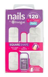 Invogue False Bare Square Nails- 120 Pieces
