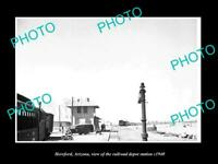 OLD 8x6 HISTORIC PHOTO OF HEREFORD ARIZONA THE RAILROAD DEPOT STATION c1940