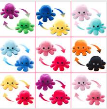 HOT NEU Doppelseitige Flip-Wende-Octopus-Plüschtier-Tintenfisch-gefüllte Puppe