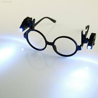 Mini Clip-on Grip Clamp LED Light Lamp Rotate For Reading Glasses Bright FF48