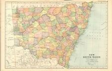 1901 ANTIQUE MAP - AUSTRALIA - NEW SOUTH WALES
