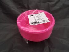 30x  plastic disposible pink bowl 12cm  for all occasions