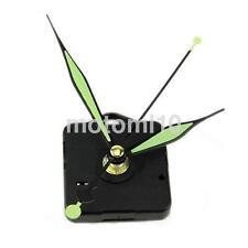 NEW Silent Quartz Wall Clock Movement Mechanism Part + Green Luminous Hands US