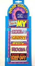 Novelty Quirky Kids Rotating Personalised Keep Out Room Door Hanger Sign Gift A1