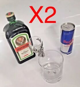 x2 Jagermeister Shot Glass Holder Jager Bomb Party Present Alcohol - Spirit Bar
