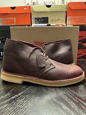 Clarks Originals Desert Boot Burgundy Tumbled Leather