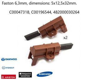2X charbon moteur 5x12,5x32mm - ARISTON,INDESIT ref C00196544
