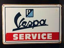 Vespa Service Metal Sign / Vintage Garage Wall Decor (30 x 20cm)