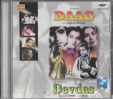 DAAG / DEVDAS - NEW BOLLYWOOD SOUND TRACK 2 FILMS SONGS IN 1 CD - FREE UK POST