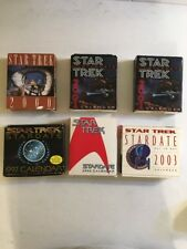 Star Trek Calendar Star Date Desk Flip Tear Off Lot Of 6