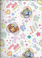 Nickelodeon Paw Patrol Pup Pals Forever on White Flannel Fabric by the Half Yard