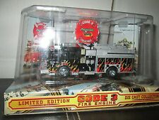 Toy Run Code 3 2002 L.A. Sutphen Pumper w/ flames No 7 #12294