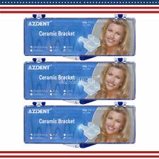 3boxes Dental Orthodontic Ceramic Brackets Roth 0.022 Slot 3-4-5 Hooks AZDENT US