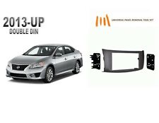 NEW fits 2013-UP NISSAN SENTRA Double DIN Dash Kit, with Tool Set