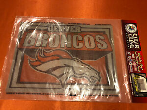 """Denver Broncos Clear Cling See Through Window Decal 14""""x10"""" NFL Sticker Decal"""