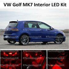 RED PREMIUM VW GOLF MK7 MKVII GTI 12-19 INTERIOR FULL LED BULBS LIGHT KIT SET