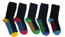 5 Pairs  KIDS SOCKS CHILDREN'S COTTON RICH SCHOOL SOCKS COLOUR HEAL  HHJBGFR