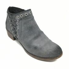 Women's Minnetonka Brenna Ankle Boots Booties Shoes Size 6.5 B Gray Suede V11