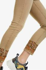 """DESIGUAL SKINNY FLORAL EMBROIDERY JEANS """" MIAMI COLOURS """" BRAND NEW WITH TAGS."""