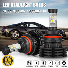 9007 HB5 CREE LED Headlight Conversion Kit Bulbs 1300W 195000LM Lamp Hi/Lo 6000K