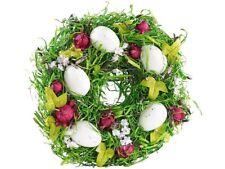 Couronne de Pâques décorative avec oeufs et fruits rouges, Ø 23cm - Britesta