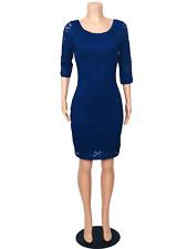 Laundry By Shelli Segal Women's Royal Blue Lace Bodycon Dress Back Zipper, Sz. 4