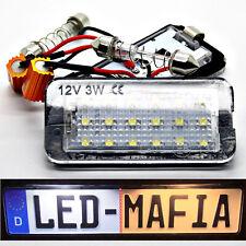 2x Fiat 500 500c Cabriolet - LED License Plate Light Module - 6000K - Plug &